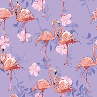 Naadloos flamingopatroon