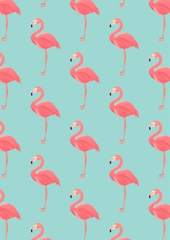 Naadloos flamingopatroon