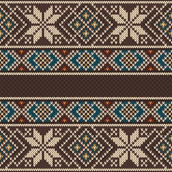 Naadloos gebreid patroon. etnisch ornament