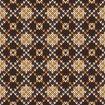 Naadloos gebreid patroon in fair isle-stijl