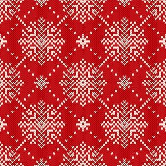 Naadloos gebreid patroon met sneeuwvlokken