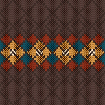 Naadloos gebreid patroon. vector achtergrond