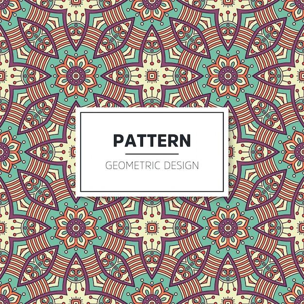 Naadloos gekleurd mandala patroon