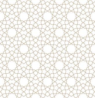 Naadloos geometrisch ornament in bruine kleur.