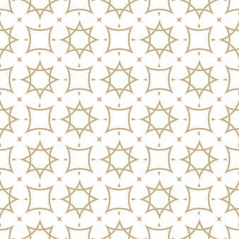 Naadloos geometrisch patroon in arabische stijl
