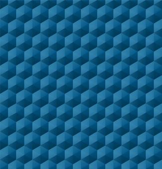 Naadloos geometrisch patroon met blauwe geometrische vormen