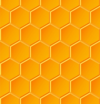 Naadloos geometrisch patroon met honingraten