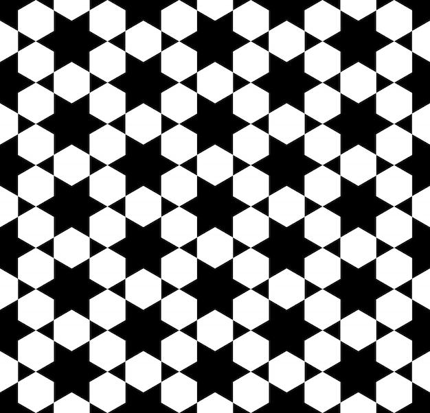 Naadloos geometrisch patroon op basis van arabische kunst.