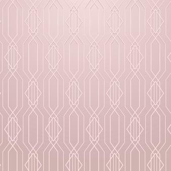 Naadloos geometrisch patroon op een roze gouden achtergrondvector