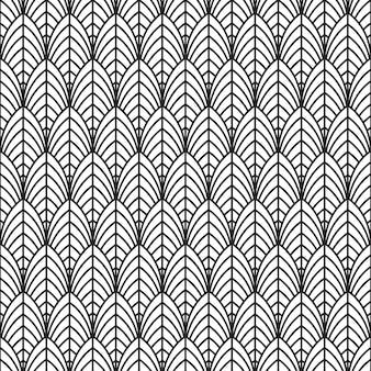 Naadloos geometrisch patroon. zwart en wit