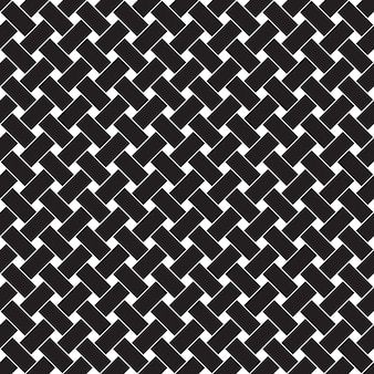 Naadloos geometrisch patroon zwarte en witte achtergrond.