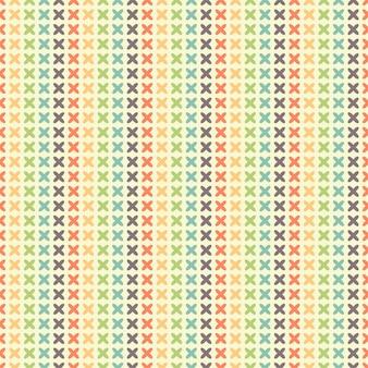 Naadloos gestreept patroon van quatrefoils