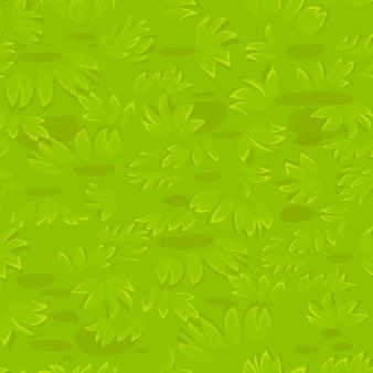 Naadloos geweven gras. natuurlijk gras patroon.