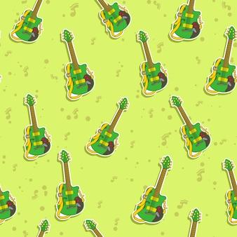 Naadloos gitaarpatroon.