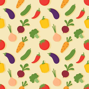 Naadloos groentenpatroon