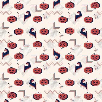 Naadloos halloween-patroon met geometrische samenvatting