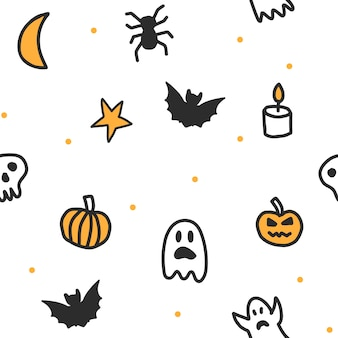 Naadloos halloween-patroon