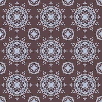 Naadloos handgetekend mandalapatroon voor afdrukken op stof of papier. vintage decoratieve elementen in oosterse stijl. islam, arabische, indiase, turkse, ottomaanse motieven.
