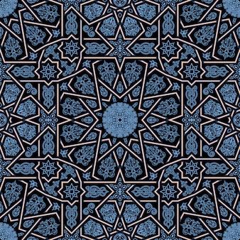 Naadloos islamitisch marokkaans patroon