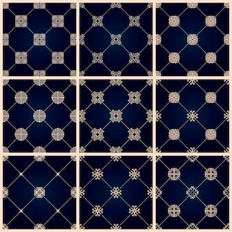 Naadloos islamitisch patroon oosters behang