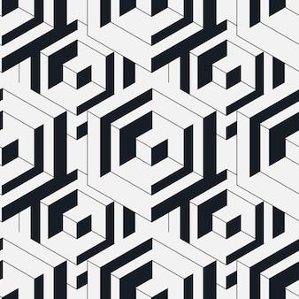 Naadloos isometrisch patroon.