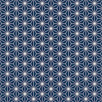Naadloos japans patroon met het motief van het hennepblad