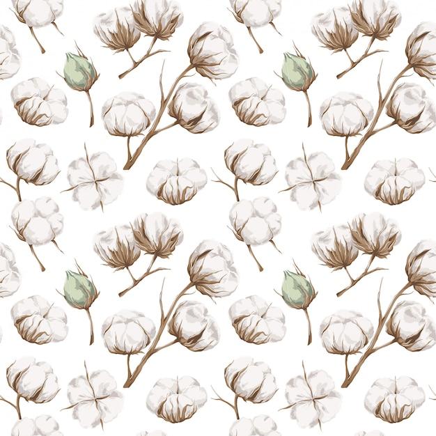 Naadloos katoenen patroon