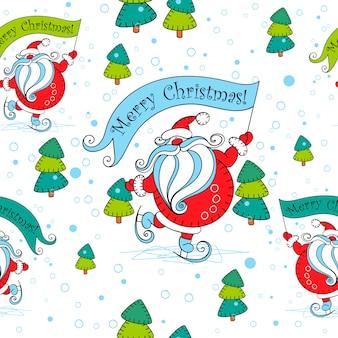 Naadloos kerstmispatroon