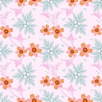 Naadloos kleurrijk bloemenpatroon