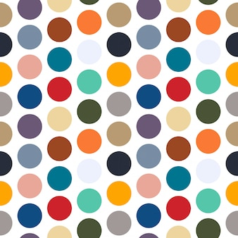 Naadloos kleurrijk puntpatroon