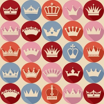 Naadloos kronen patroon