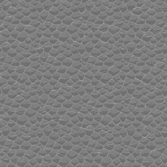 Naadloos leerpatroon. imitatie van een uniforme leertextuur met herhalende chaotische rimpels. neutraal grijs gedetailleerd staal, handig als een hoogdoorlaat- en overlayfilter voor sommige oppervlakken.