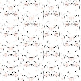 Naadloos leuk kattenpatroon