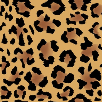 Naadloos luipaardvelpatroon voor koele achtergrond