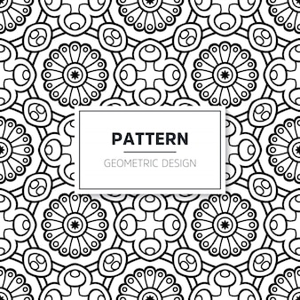 Naadloos mandala islamitisch patroon. vintage elementen