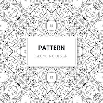 Naadloos mandala patroon.