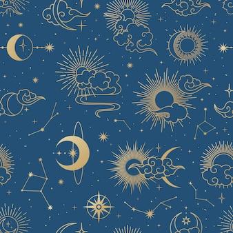 Naadloos melkwegpatroon