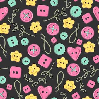 Naadloos met de hand gemaakt patroon