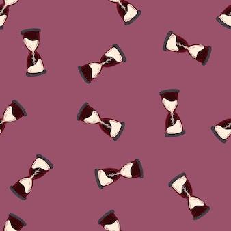 Naadloos minimalistisch patroon met zandlopervormen