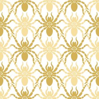 Naadloos modern patroon met spinnen
