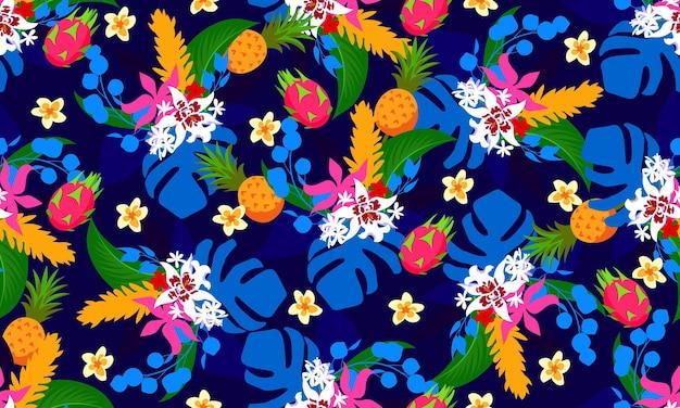 Naadloos modern tropisch patroon