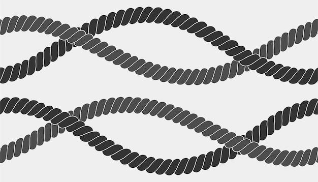 Naadloos nautisch touwpatroon