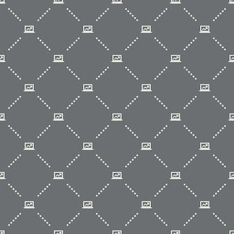 Naadloos online bedrijfspatroon op een donkere achtergrond. online bedrijfspictogram creatief ontwerp. kan worden gebruikt voor behang, webpagina-achtergrond, textiel, print ui/ux
