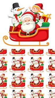 Naadloos ontwerp als achtergrond met kerstmisthema