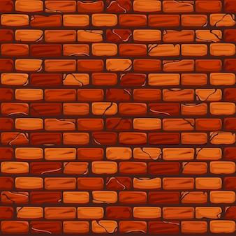 Naadloos oud bakstenen muur achtergrondtextuurpatroon