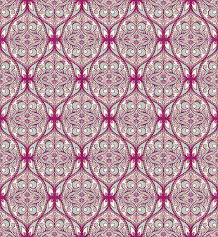 Naadloos paars turkoois patroon