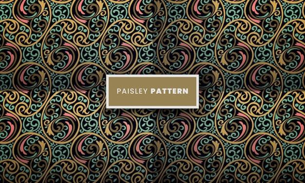 Naadloos paisley patroon sier paisley achtergrondontwerp