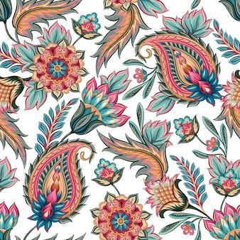 Naadloos paisley patroon