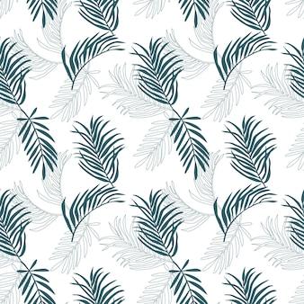 Naadloos palmbladpatroon