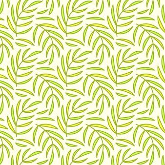 Naadloos patroon, achtergrond met hand getrokken leuke insecten, bloemen, bladeren